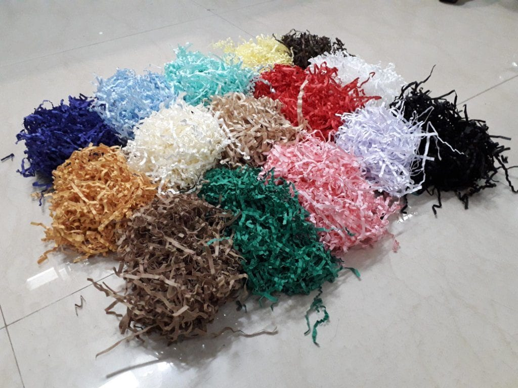 shredded paper for gifting